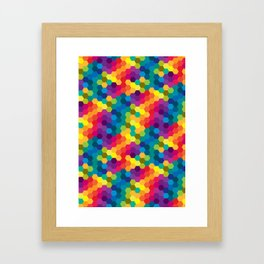 Hexagonized Framed Art Print