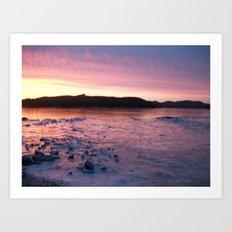 Frozen Sunset 3 - Pink Lemonade Art Print