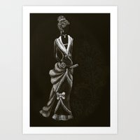 victorian Art Prints featuring Victorian  by Red, the artist