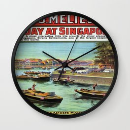 Vintage poster - Singapore Wall Clock