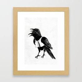 Croak a doodle Framed Art Print