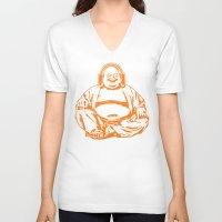 buddah V-neck T-shirts featuring Buddah Beats by ALLGOLD Creative
