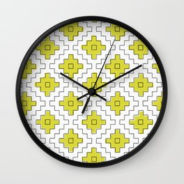 sashiko yellow Wall Clock
