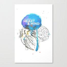 Art Coordinates Heart and Mind Canvas Print