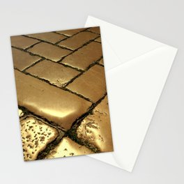 Pathway to Haeven, Golden Ancient Pedestrian Stone Enlightened by the Sunlight Stationery Cards
