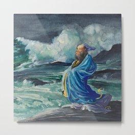 "John La Farge ""A Rishi Stirring Up a Storm"" Metal Print"