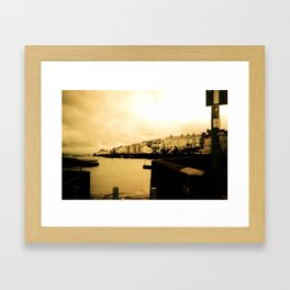 Sea Town Framed Art Print