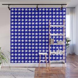 Blue White Stars Design Wall Mural