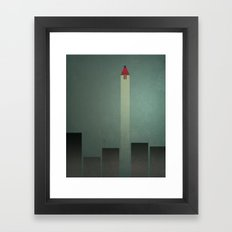 Smooth Minimal - Flying man Framed Art Print