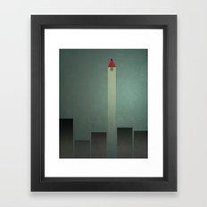 Smooth Minimal - Flying man Framed Art Print