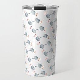 Barbell Pop Gray Travel Mug