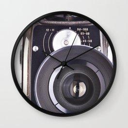 Retro hobbies movie camera Wall Clock