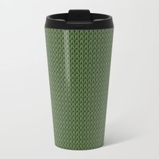 Knitted spring colors - Pantone Kale Travel Mug