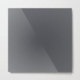 Houndstooth Black & Gray small Metal Print