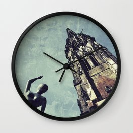 Ruined WW2 Church Wall Clock
