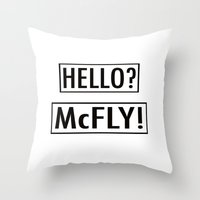 mcfly Throw Pillows featuring McFly by Pineapple Lanai