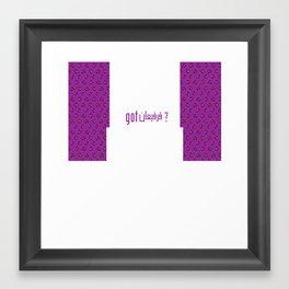 got قرقيعان? Framed Art Print