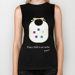 Every child is an artist Biker Tank