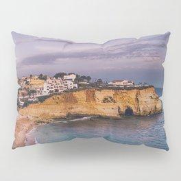 Carvoeiro town and beach in Lagoa, Algarve, Portugal. Pillow Sham