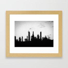 Black Industrial Framed Art Print
