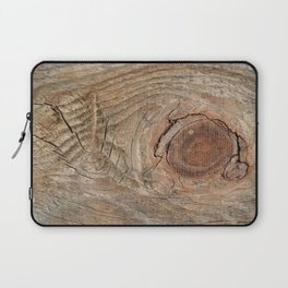Wood with knot Laptop Sleeve
