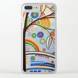Abstract Art Landscape Tree Painting ... The Sound of Sunshine 3 Clear iPhone Case