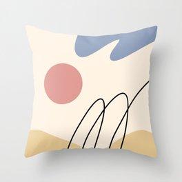 Line Art Scenery 1 Throw Pillow