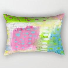 Polk-A-Dotted Background Rectangular Pillow