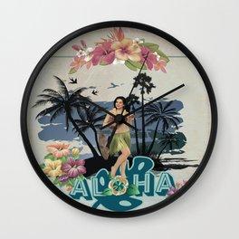 Vintage Hawaiian Entertainer Wall Clock