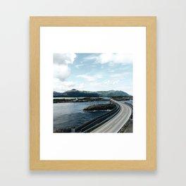 the atlantic road in Norway Framed Art Print