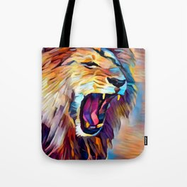 Lion 5 Tote Bag