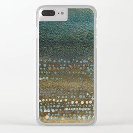 Landscape Dots - Night Clear iPhone Case