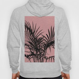 Little palm tree in black with peach Hoody