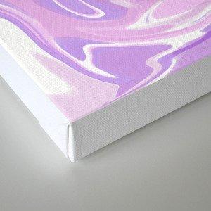Blend of Pink Purple Velvet Violet Color Marble Canvas Print