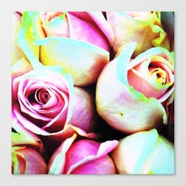 Saturated Roses Canvas Print