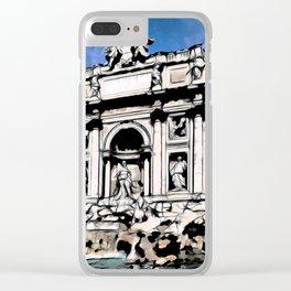 Fontana di Trevi, Rome Clear iPhone Case