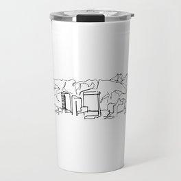 El Paso Skyline Drawing Travel Mug