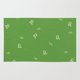 Leo Pattern - Green Rug