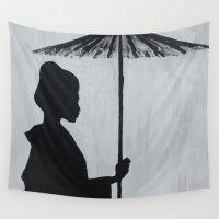 geisha Wall Tapestries featuring Geisha by Et Voilà