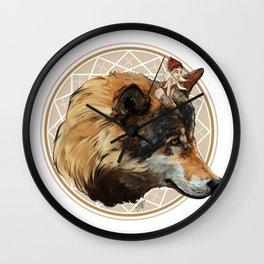 Wild Child - Wolf Wall Clock