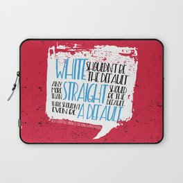 There Shouldn't Be A Default - Simon vs the Homo Sapiens Agenda book quote design Laptop Sleeve