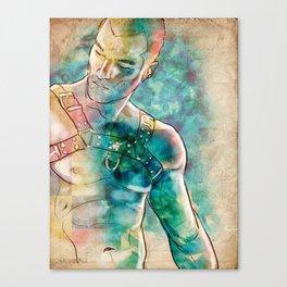 Gay Leather Daddy Canvas Print