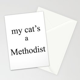 My Cat's a Methodist Stationery Cards