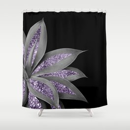 Agave Finesse Glitter Glam #3 #tropical #decor #art #society6 Shower Curtain