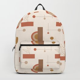Balanced Minimal Earthy Pattern Backpack