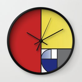 Mondrian vs Fibonacci Wall Clock