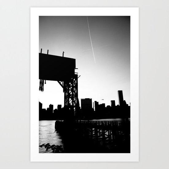 New York City Blackout Art Print