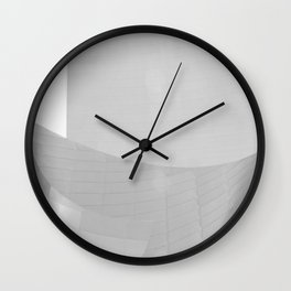 From the Inside Out Black And White Afternoon Vintage Retro Photography I Wall Clock