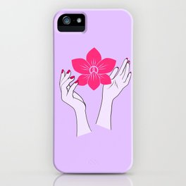 Holy orchid iPhone Case