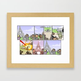 Asshole Eiffel Framed Art Print